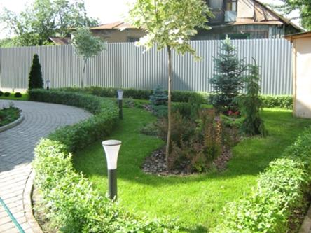 Дизайн участка загородного дома 15 соток своими руками фото